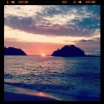 Solnedgång på Pangkor Island