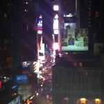 Times Square från hotellrummet
